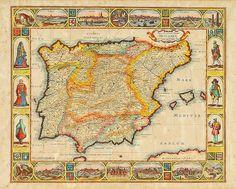 Portuguese Empire, Portuguese Culture, Vintage Maps, Vintage Posters, Faro Algarve Portugal, History Of Portugal, Braga Portugal, Iberian Peninsula, History Activities