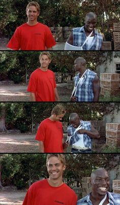 With Tyrese Gibson, in the film version of the Fast & Furious franchise. Furious Movie, The Furious, Fast And Furious, Paul Walker Movies, Rip Paul Walker, Death Cab For Cutie, Lights Camera Action, Actrices Hollywood, Action Film