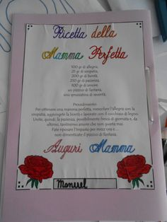 Un libro di ricette per la Festa della mamma, classe 3a - MaestraMarta