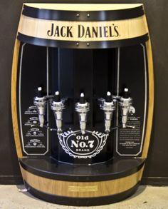 Jack Daniels 5 Bottle Barrel Bar Dispenser - www.mybottleshop.com.au