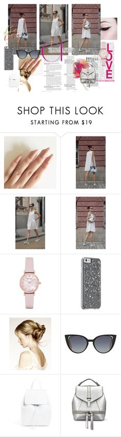 """""""White Chic in the city -  Doll Dress"""" by aakasha ❤ liked on Polyvore featuring Emporio Armani, Fendi and Mansur Gavriel"""