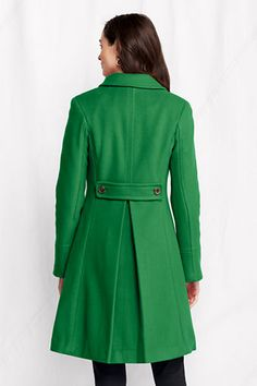 Women's Wool Engineered Stripe City Coat from Lands' End Finally ...