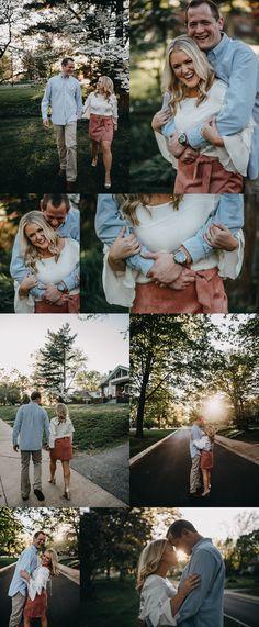 Engagement Session at home Saint Louis Wedding Photography Elizabeth Lloyd Photography #weddingphotography