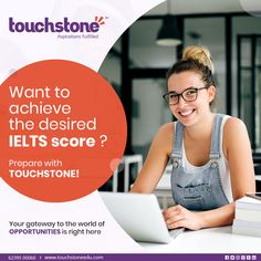 Touchstone is one of the best Institutes in India and is synonymous with quality IELTS training. We have the honor of being the institute in the country to have Cambridge University Press as our knowledge partner. Touchstone uses the official IELTS pre Social Media Poster, Social Media Banner, Social Media Template, Social Media Design, Education Banner, Education Quotes, Physical Education, Art Education, Instagram Banner