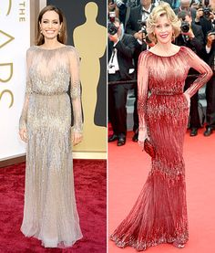 Angelina Jolie and Jane Fonda wear the same Elie Saab gown -- who wore it best?