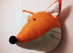 Wall Mounted Animal Heads in Fabric  Fred by GillsPopArtEmporium, £50.00