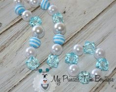 Frozen Necklace Olaf Necklace Frozen Chunky Necklace