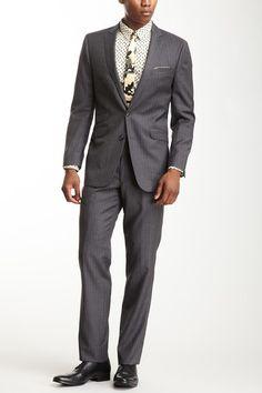 Gray Pinstripe Slim Fit Suit by Ben Sherman on @HauteLook
