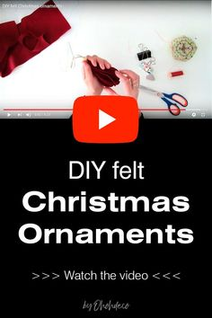 Have fun making felt Christmas ornaments to decorate your tree. Grab the printable ornament patterns and start making some cute felt decorations with a Scandinavian look. #Christmas #crafts #ornaments #template #nordic