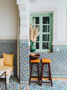 A gorgeous, gem-like Moroccan riad in the heart of Marrakech Moroccan Interiors, Amber Interiors, Moroccan Design, Moroccan Tiles, Middle Eastern Decor, Le Riad, Tadelakt, Interior Decorating, Interior Design