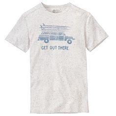 T-shirt fantaisie aux allures de vacances au soleil et de sessions de surf #Timberland