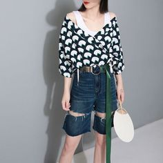 Summer and Spring New Women Fashion Coats Printed Cotton Loose V-neck Women Coat Lace