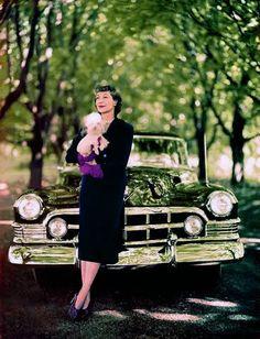fashion and cars, 1950s, by John Rawlings