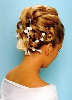 This is pretty...I like incorporating a flower or something in my hair.
