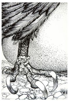 Fastened It Tightly About My Waist And Tied Myself To One Of The Feet Of The Bird; The Story of Sindbad the Sailor - The Arthur Rackham Fairy Book. A Book of Old Favorites. With New Illustrations, 1933