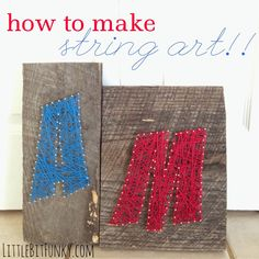 Little Bit Funky: how to make string art {40 ideas & 20 minute crafter}