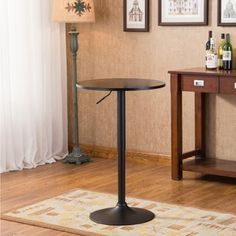Belham Black Round Top Adjustable Height Metal Bar Table - Free Shipping Today - Overstock.com - 19057620 - Mobile
