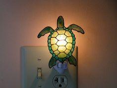Sea Turtle Night Light by CreativeGlasPainting on Etsy Gotta have it!