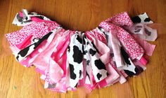 Cowgirl fabric tutu  - Western Tutu - pink cowgirl tutu -   Cowgirl birthday Tutu, shabby chic fabric tutu skirt - Choose your size on Etsy, $21.72 AUD