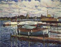 Boote an der Havel in Potsdam von Philipp Franck
