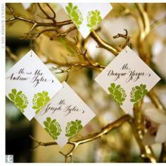 Gold tree escort cards