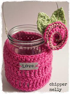 Crochet Jar cosy | Flickr - Photo Sharing!