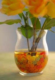 Buttons in a vase?Yes please.This would be perfect to add flare to any centerpiece or even fun for the home.