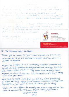 Thank you letter from Ronald McDonald House Charities for our donation! :) We are the different making a difference!  #ukmodifieddolls #modifieddolls #modifiedwomen #supporting #charities #donation #thankyou #letter #ronaldmcdonaldhousecharities