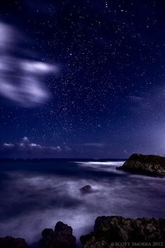 """""""Tulum Nights"""" Stars, waves and thunderstorm clouds in Tulum, Mexico"""