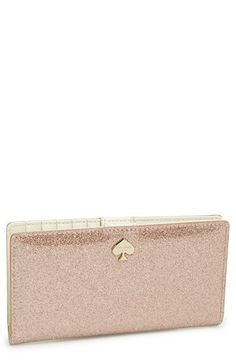 kate spade new york 'glitter bug - stacy' continental wallet | Nordstrom