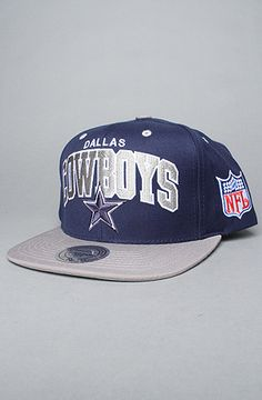 The Dallas Cowboys Arch Snapback Cap in Silver   Blue by Mitchell   Ness  Snapback Cap 0aa68d909fd9