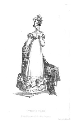 Evening Dress from Ackermann's Repository of the Arts October 1818