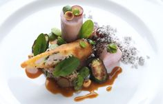 Adam Stokes shares a brilliant rabbit loin recipe, pairing the meat with a rabbit spring roll and couscous
