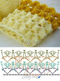 Amazing and easy textured stich for scarfs and blankets - Hermoso punto texturado. Para hacer en crochet bufandas o mantas. Bellísimo y fácil.