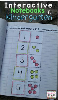 Interactive notebooks in Kindergarten?  YES please!