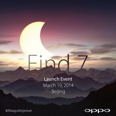 They are coming. #AlwaysImprove #Find7