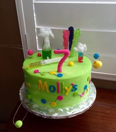 Mad Science themed Happy Birthday Cake