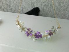 Wire and nail polish necklace made by myself Daniela Pesel