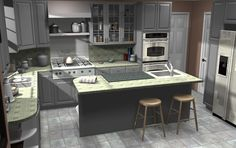 awesome site, recreates movie kitchens with Ikea products... Mrs. Doubtfire kitchen!