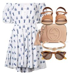 """""""Untitled #4830"""" by olivia-mr ❤ liked on Polyvore featuring Caroline Constas, Gucci, Ancient Greek Sandals, Illesteva and ASOS"""
