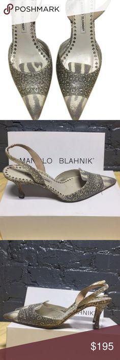 Manolo Blahnik Ctirini Bronzo Turc Pumps Slingbacks, includes original box Manolo Blahnik Shoes