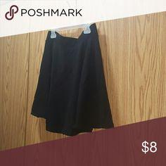 Black Skater Skirt Super Cute Black Skirt  Size Medium Divided Skirts Circle & Skater