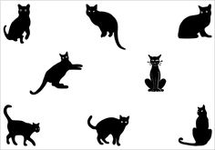 Black cats in different styles, a total of eight individual vector elements are there in this pack of Black Cat Silhouette Vector. This is an ideal vector pack for animal vector graphics, pet vector illustrations, horror graphics etc.