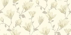 Lotus Cream (632101) - Arthouse Wallpapers - Beautiful, painterly images of lotus flower branches.  Available in several colours - shown here in the cream colourway.  Please request sample for true colour match.