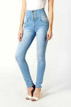 Elsie High Waisted Super Skinny Jeans  #denmimdaze and #boohoo
