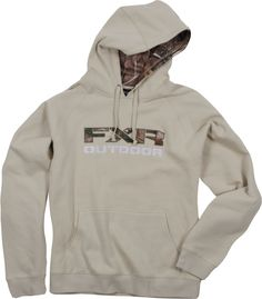 FXR Racing - Snowmobile Gear - Men's Outdoor Pullover Hoodie - Sand