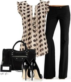 Love the blouse! Love polka dots!
