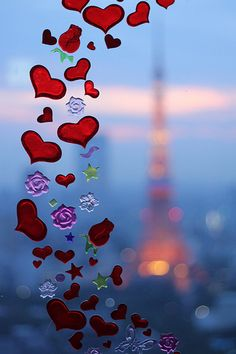 hearts in paris