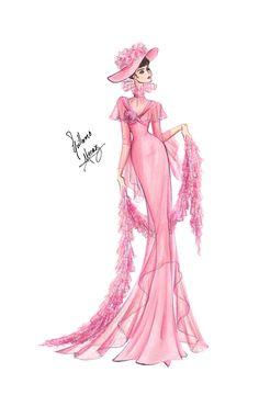 Audrey Hepburn in My Fair Lady - Pink Gown by frozen-winter-prince.deviantart.com on @deviantART