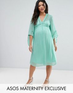 Get this Asos Maternity's cotton dress now! Click for more details. Worldwide shipping. ASOS Maternity Lace Up Dress - Blue: Maternity dress by ASOS Maternity, Sheer lightweight fabric, Fully lined, V-neck, Lattice inserts, Flared sleeves, Tie-back fastening, Regular fit - true to size, Designed to fit through all stages of pregnancy, Machine wash, 100% Viscose, Our model wears a UK 8/EU 36/US 4 and is 173cm/5'8 tall. Maternity dressing gets bumped up to next-level status with the ASOS…